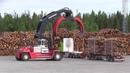Svetruck TMF 32 22 Unloading Volvo FH16 6x4 700hp Timbertruck