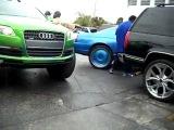 Audi Q7 нигерская тачка на огромных дисках