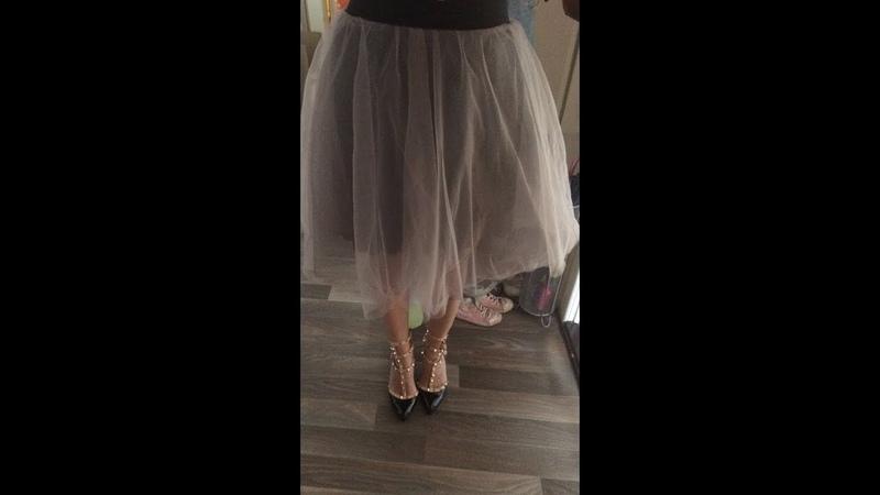 Юбка-пачка из фатина/Как сшить фатиновую юбку пачку/Юбка полусолнце выкройка за 5 минут