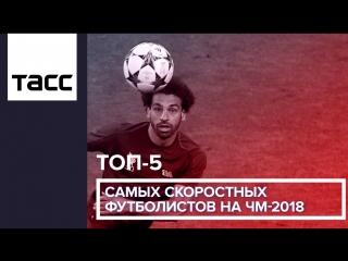 ТОП-5 самых скоростных футболистов на ЧМ-2018