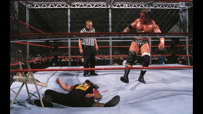 (WWE Mania) No Way Out 2000 Triple H(c) vs Cactus Jack - WWF Championship (Hell in a Cell Match)