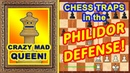 Crazy mad chess QUEEN! ♕ Adams vs Torre ♔ Chess Traps in the Philidor defense!