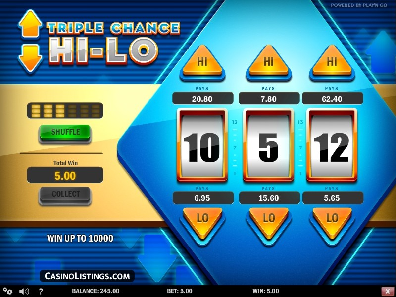 Вулкан: Игровые автоматы Triple Chance Hilo