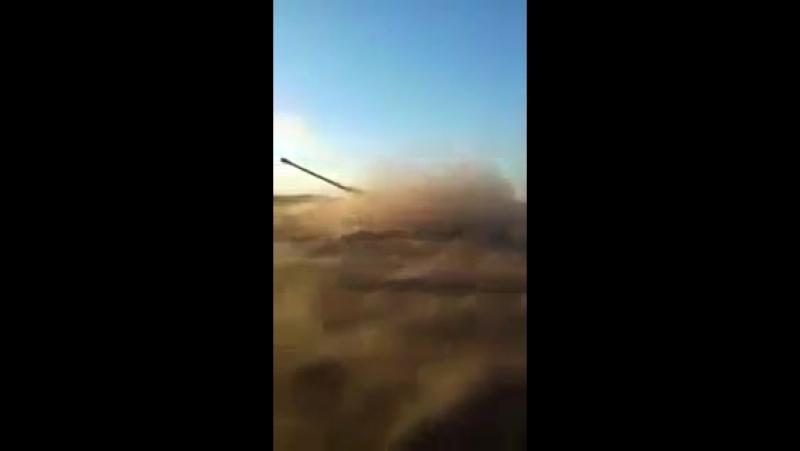 Огонь по позициям боевиков.mp4