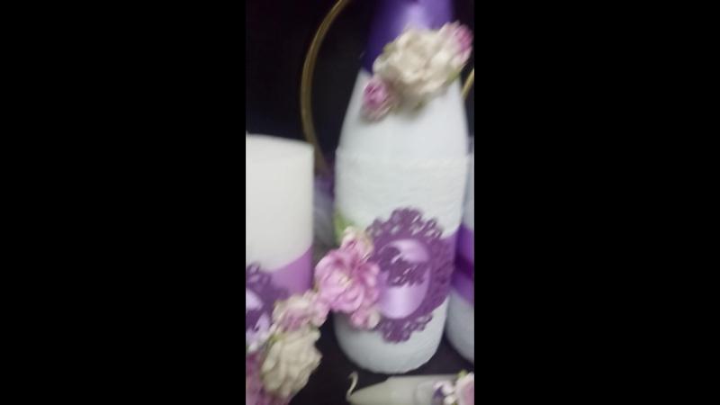 Ещё один набор в фиолетовый оттенках