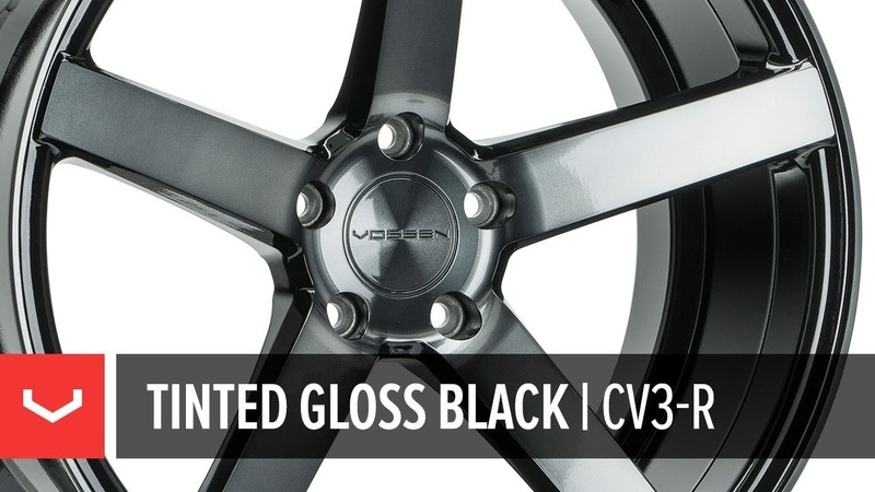 Vossen CV3-R Wheel | Tinted Gloss Black | All-New Transparent Finish