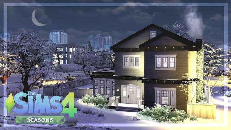 SEASONS ☔️ Early Access | HOUSE 🏡 Speed Build | Sims 4