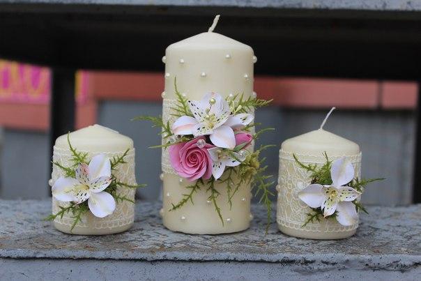 Розово- белая свадьба, с розами и альстромерией. Полимерная глина. Ручная работа....