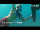 Этот миниатюрный акваланг позволит вам проводить под водой 10 минут и нырять на глубину до 3 метров. Потрясающий девайс заменяющ