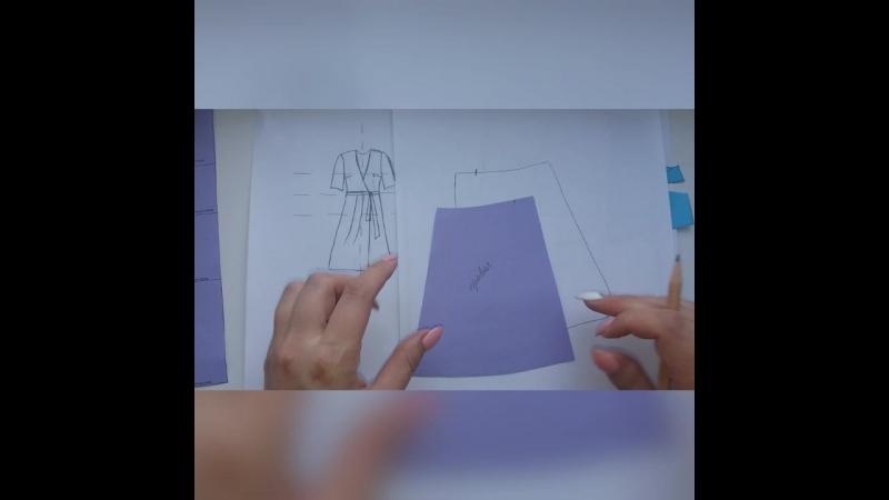 Выкройка платья-халата