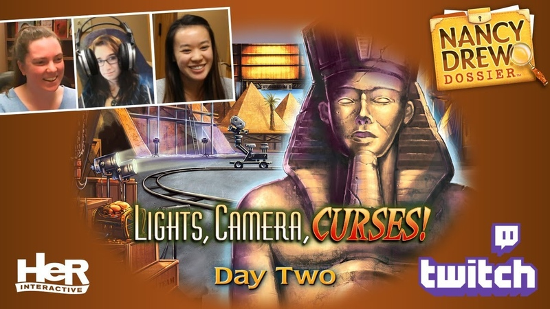 Nancy Drew Dossier: Lights! Camera! Curses! [Day Two: Twitch]   HeR Interactive