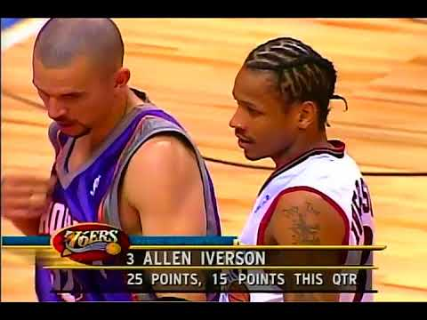 Last 2 Minutes of NBA 2001 All Star Game (UNCUT). The Most Exciting ASG Ever