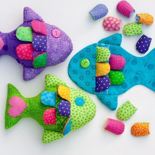 Шьем развивающие игрушки для малышей Радужные рыбки . Мастер-класс…. (9 фото) - картинка