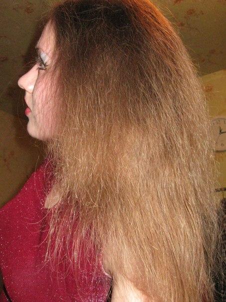 концы волос как пух