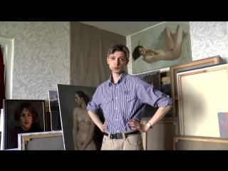 В мастерской художника Дмитрия Евтушенко #Мастерская_художника #Дмитрий_Евтушенко #Живопись #Портреты #Венеция