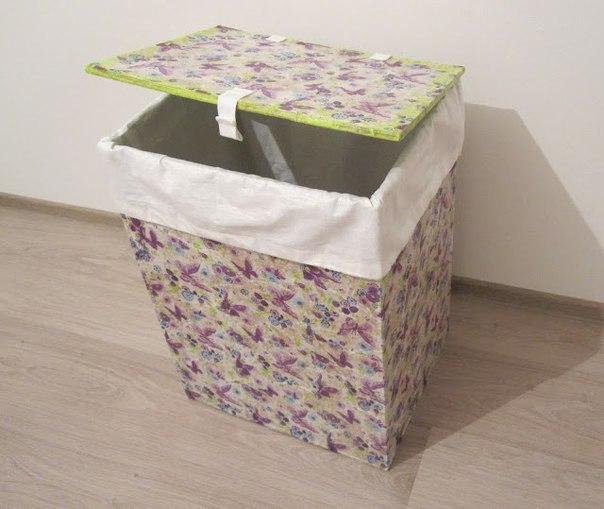 Ящик для белья из картона и бумажных салфеток… (5 фото)