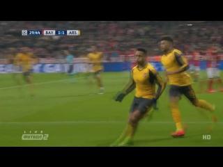 Бавария - Арсенал. Гол Санчеса