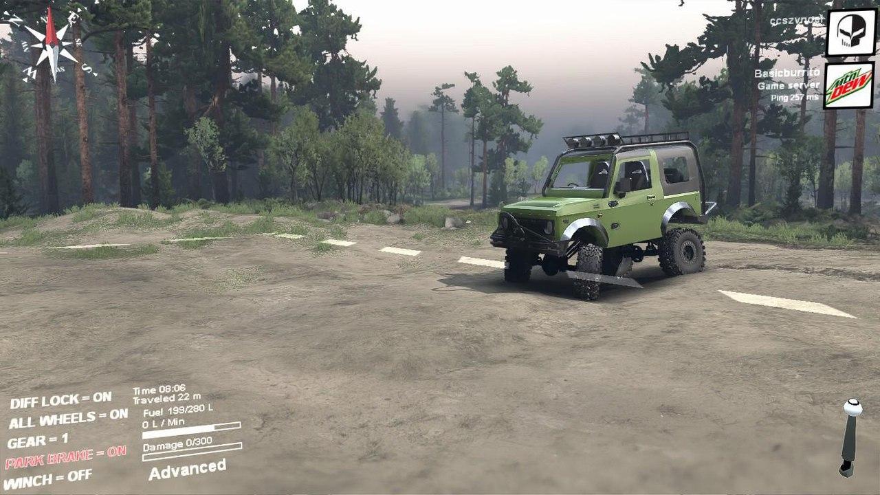 Suzuki samurai extreme для Spintires - Скриншот 2