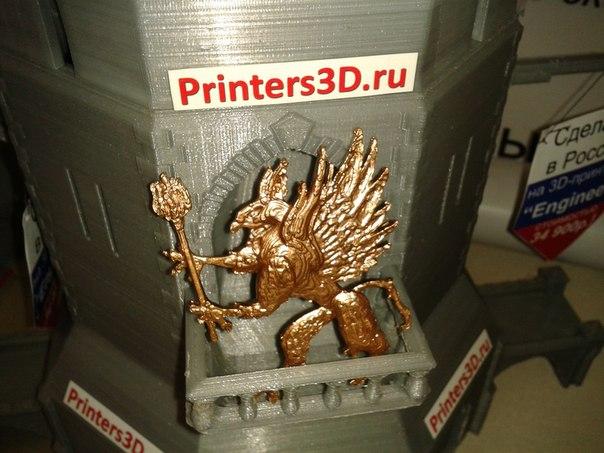 Пример покраски акриловой краской детали, распечатанной на 3D-принтере