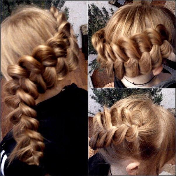 косы плетение фото прически