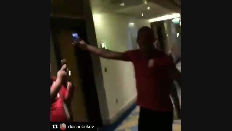 Кубок Азии-2019. Кыргызстан. Победная раздевалка после Филиппин