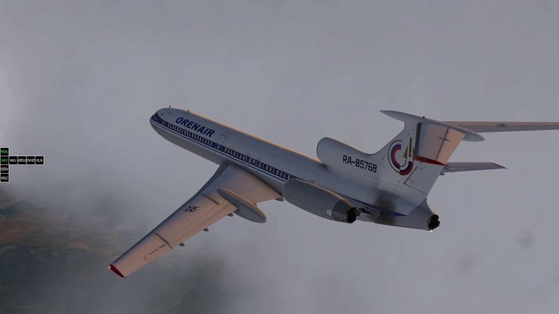 Tupolev 154M LUBM - LUKK Chisinau - X-Plane 11