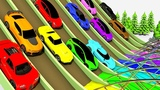 Colors for Children to Learn with Toy Cars, Color Water Sliders for Kids learning colors