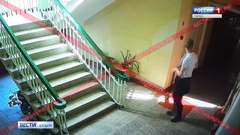 Видео с камер видеонаблюдения в керченском колледже Как Росляков совершил нападение