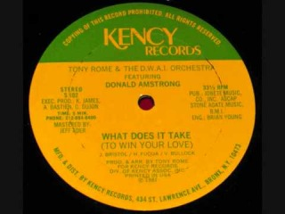 TONY ROME - What Does It Take (To Win Your Love) [ Kency Rec ] 1981