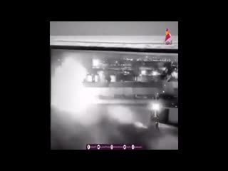 Iraqi channel publishes a record of the strike at suleimanis vehicle from security cameras at baghdad airport