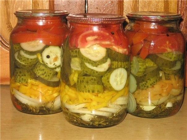 Летний салат на зиму.