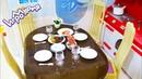 СТОЛ со СТУЛЬЯМИ и ПОСУДКОЙ для БАРБИ 🍽 ОБЗОР. КУКЛЫ НАКРЫВАЮТ НА СТОЛ. Table with chairs for dolls