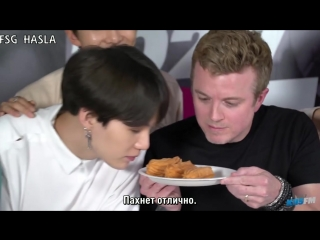[RUS SUB]BTS Tries Churros, In N Out  Gets LA Dodgers Gear