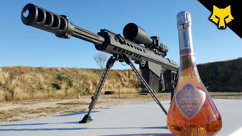 How to Uncork Champagne with a 50 cal.. 🍾😳