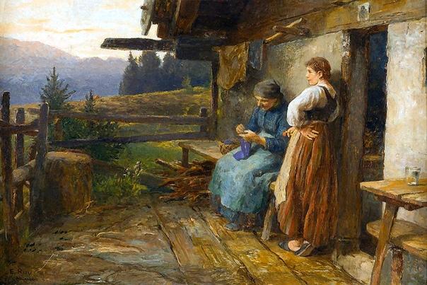 ХУДОЖНИК EMIL RAU (1858-1937), ГЕРМАНИЯ Эмиль Рау был немецким художником-жанристом. Учился в Дрезденской Академии художеств у Леона Поля и Фердинанда Паувельса. С 1 мая 1879 года учился в