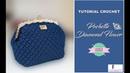 TUTORIAL POCHETTE CLIC CLAC DIAMOND FLOWER | PUNTO FANTASIA | UNCINETTO D'ARGENTO