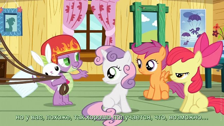 My Little Pony FiM Сезон 3 серия 11 Just for Sidekicks HD русские субтитры