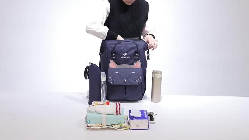 Мода кошка мумия материнства подгузник сумка бренд большой емкости рюкзак для путешествий