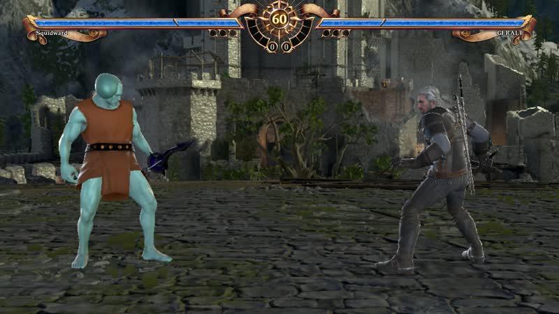 Идеальный Сквидвард против Геральта из Ривии