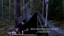 Homemade Hiking Tent Stove Field Test - Bushcraft Overnight - Canvas Lavvu Shelter