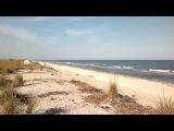 Коса Бирючий остров море солнце пляж палатка турист нудист Август 2013