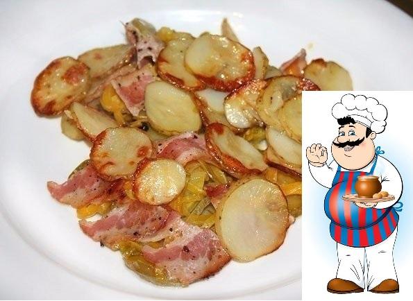 Блюдо для большой компании! Накормите вкусно всех! ЗАПЕЧЕННЫЙ МОЛОДОЙ КАРТОФЕЛЬ С БЕКОНОМ И ОВОЩАМИ <strong>Ингредиенты:</strong> — картофель — молодой кабачок — жёлтый болгарский перец — лук порей — бекон -«/></div> <p>ЗАПЕЧЕННЫЙ МОЛОДОЙ КАРТОФЕЛЬ С БЕКОНОМ И ОВОЩАМИ </p><div> <div id=