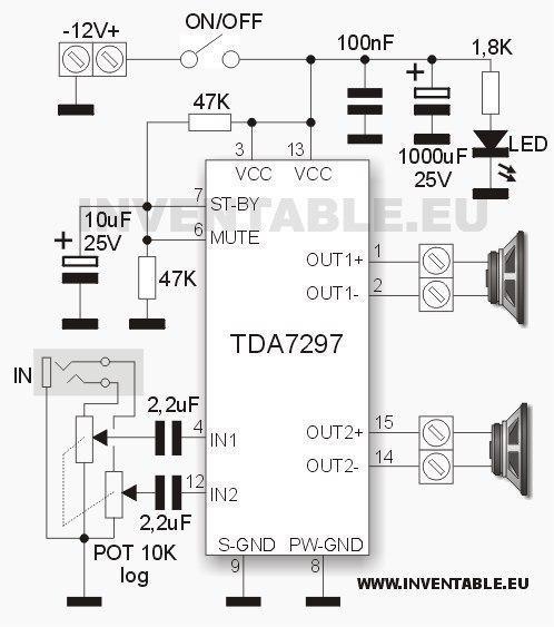 Простой мощный стерео усилитель на одной микросхеме TDA7297