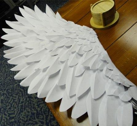 Как сделать крылья из бумаги картинки