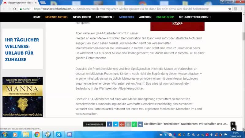Schrumpfkopf TV die 2-te fb-Sperre in 2 Tagen .....