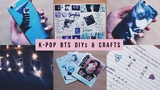 4 easy BTS inspired crafts &amp DIYs (phone case, cards, K-POP journal, stickers...)