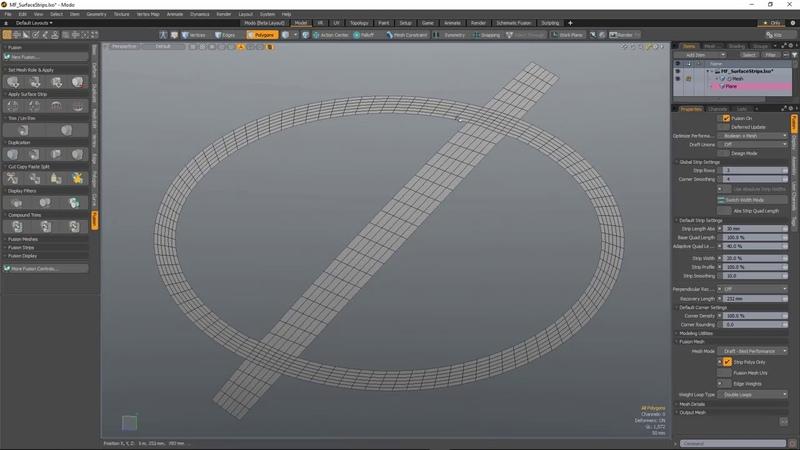 MODO 12.1 Surface Strips