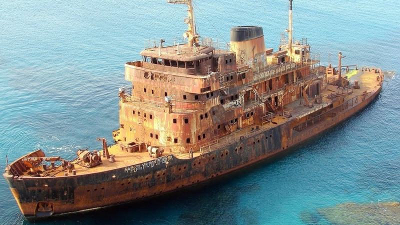 Ghost cruise, cargo, war, navy ships and subs after shipwreck.