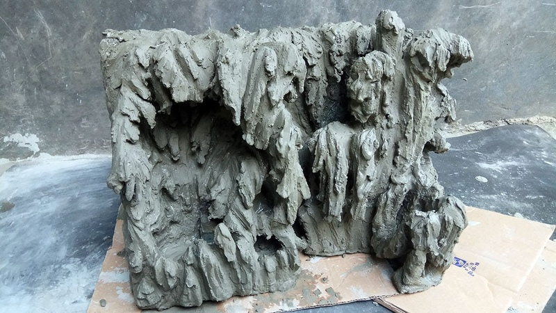 How to make cliff using styrofoam and cement for room decoration