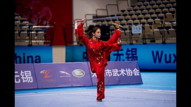 Womens Taijijian 女子太极剑 第11名 广东队 梁壁荧 9.44分 guang dong liang bi ying